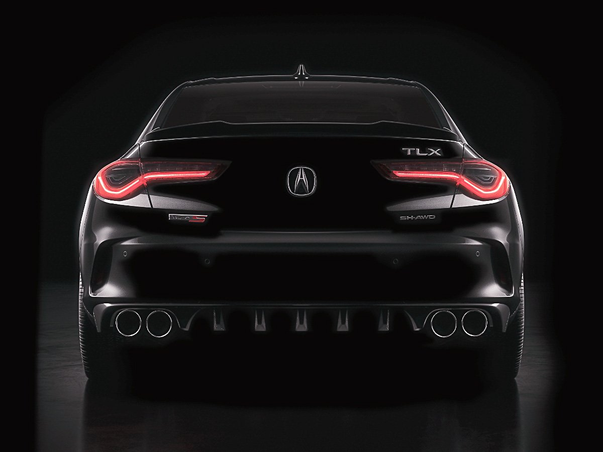 2021 Acura TLX Type S Black Rear View
