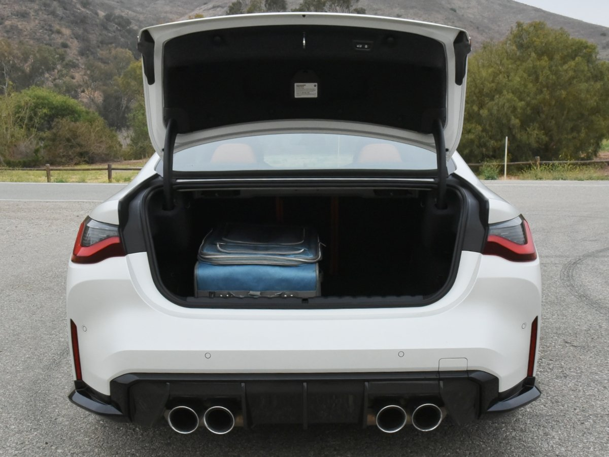 2021 BMW M4 Coupe White Trunk Room
