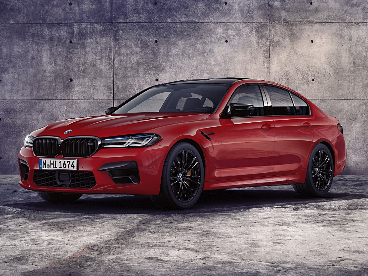 2021 BMW M5 Competition Red Front View
