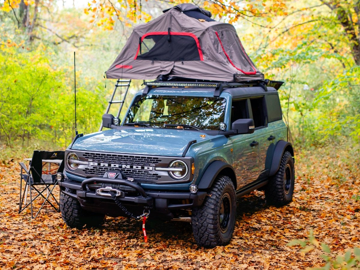 2021 Ford Bronco Overland Concept Tent on Roof