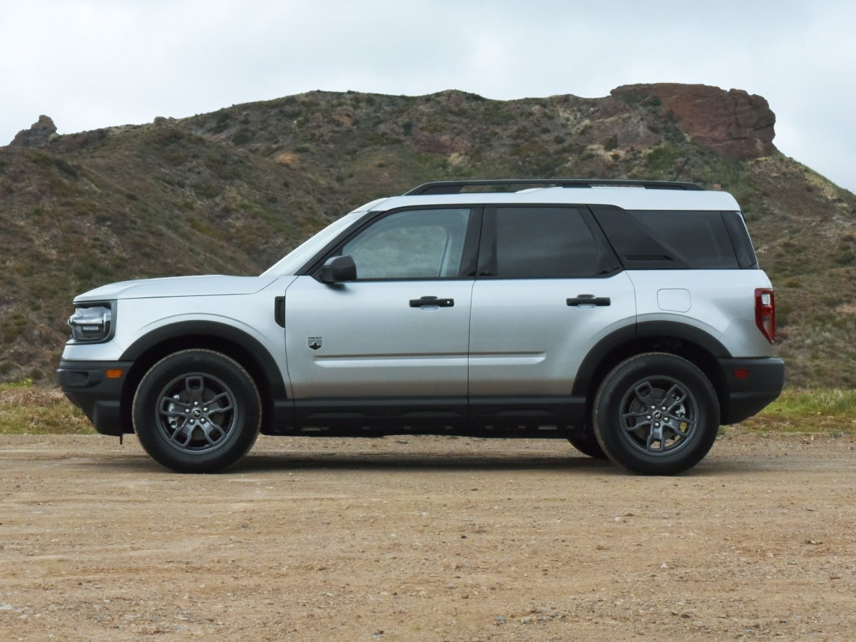 2021 Ford Bronco Sport Big Bend Silver Side View