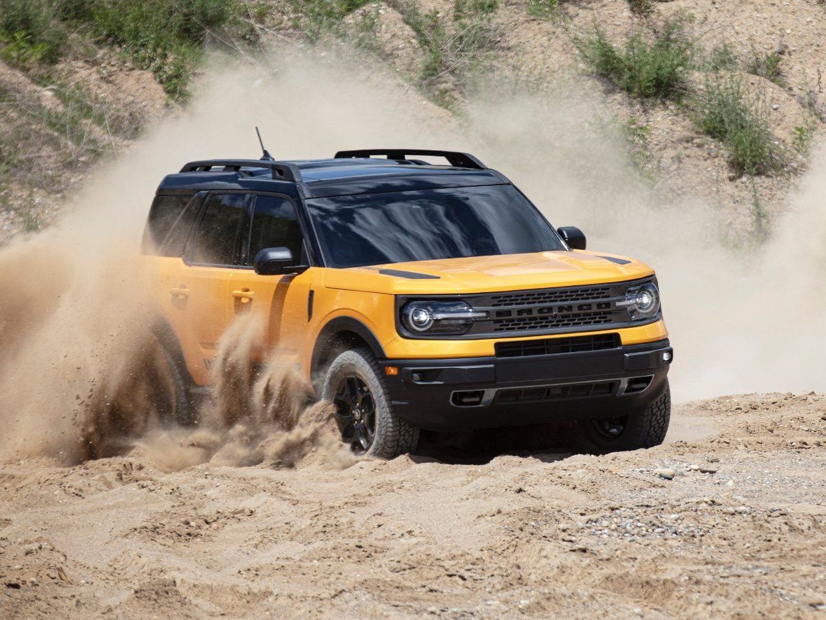 2021 Ford Bronco Sport Yellow Front Quarter View