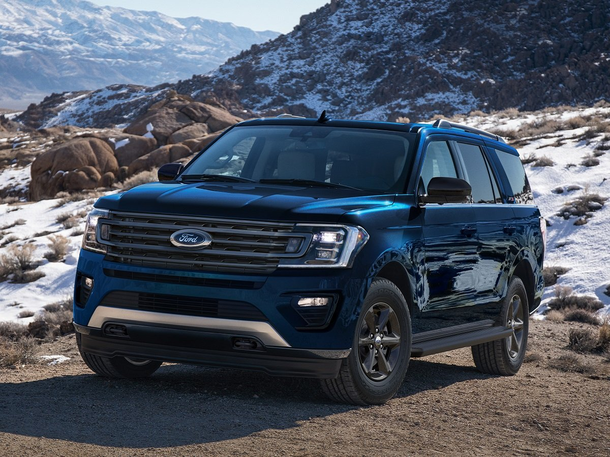 2021 Ford Expedition STX Blue Front Quarter View