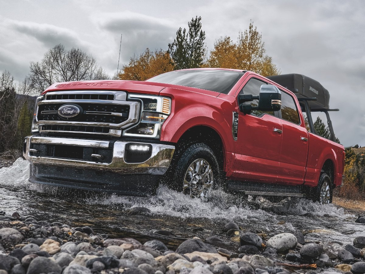 2021 Ford F Series Super Duty Front Quarter View