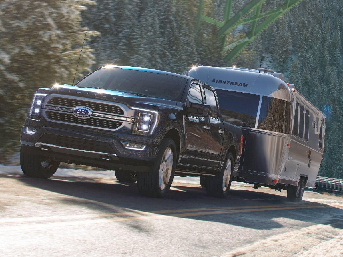2021 Ford F-150 towing Airstream trailer
