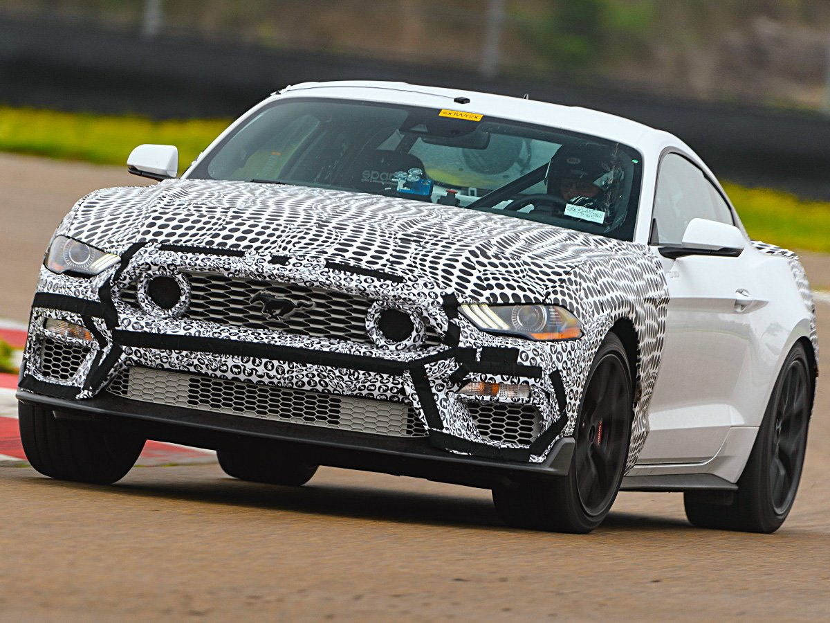2021 Ford Mustang Mach 1 White Front Camo