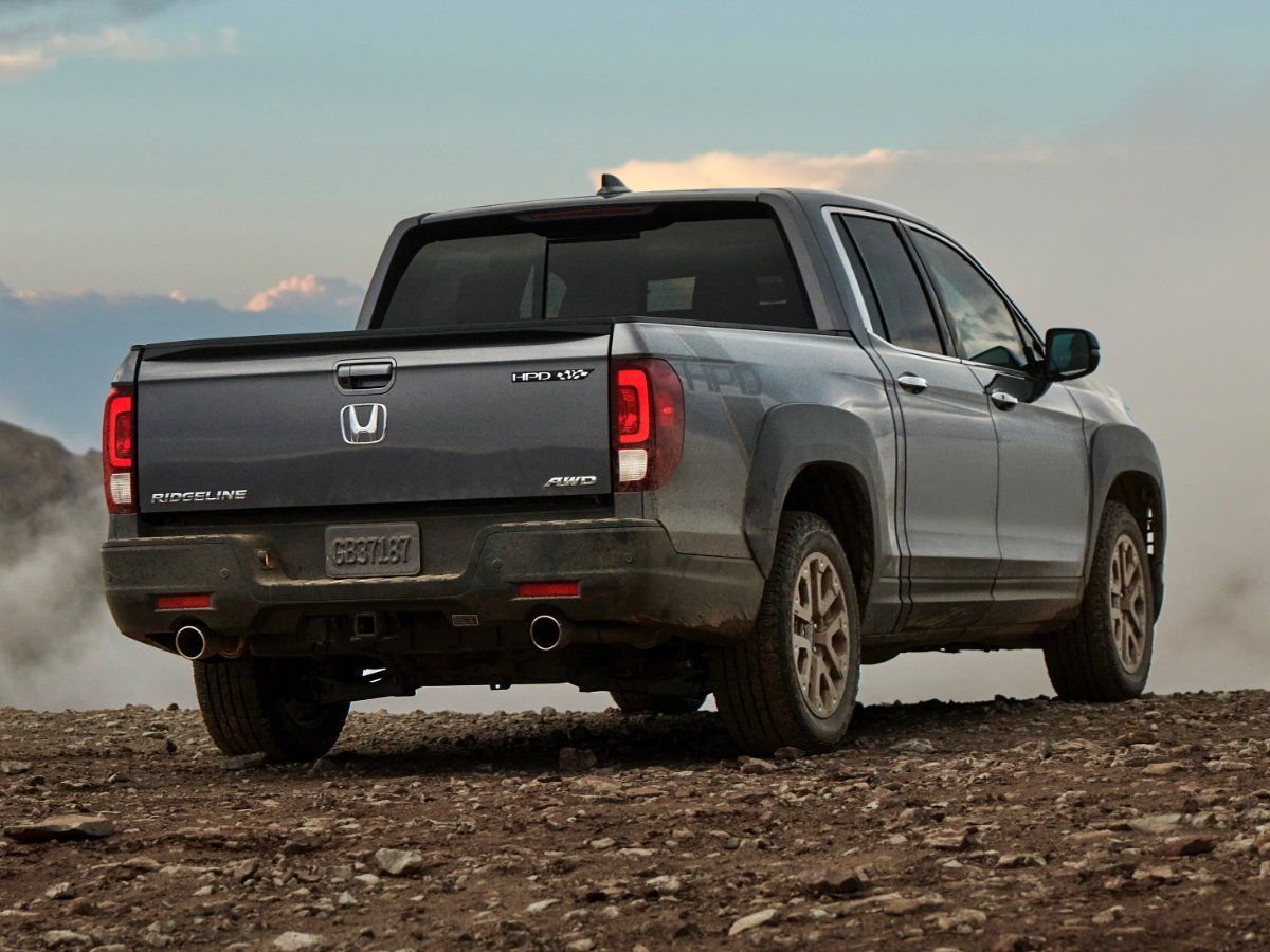 2021 Honda Ridgeline HPD Gray Rear View