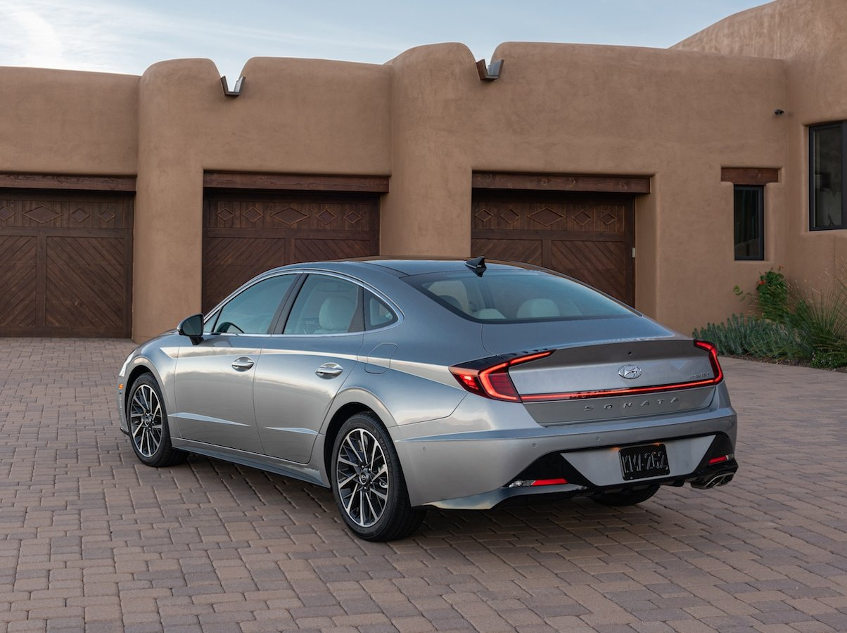 2021 Hyundai Sonata Limited Silver Rear Quarter