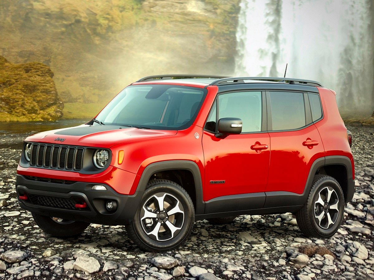 2021 Jeep Renegade Trailhawk Red Front Quarter View