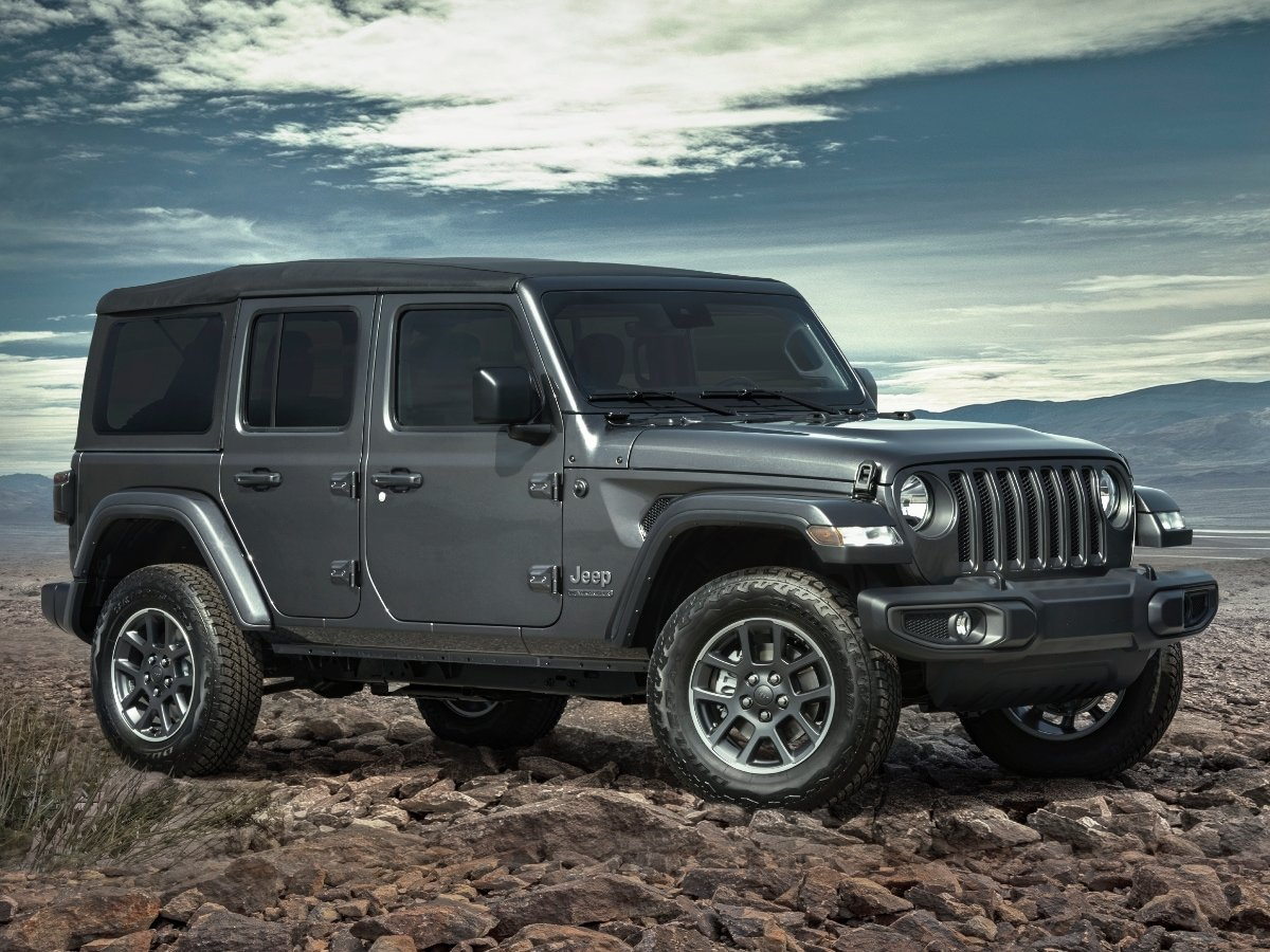 2021 Jeep Wrangler 80th Anniversary Edition Gray Front Quarter View