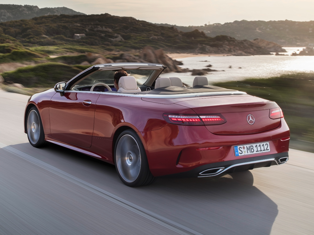 2021 Mercedes-Benz E 450 Cabriolet red rear view