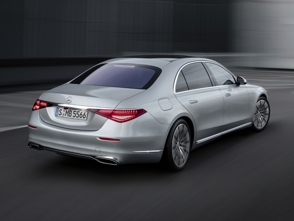 2021 Mercedes S-Class Silver Rear View