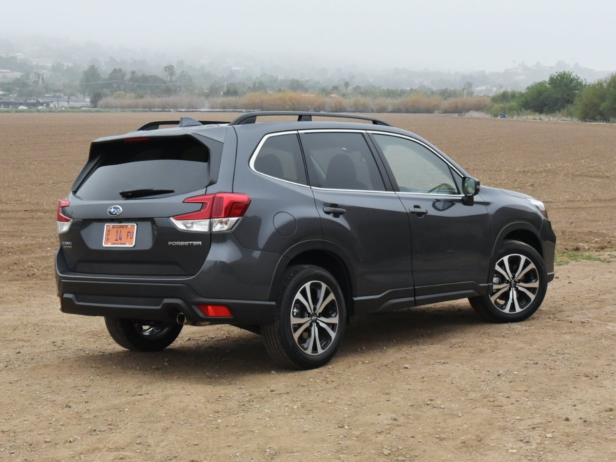 2021 Subaru Forester Limited Gray Rear Quarter View