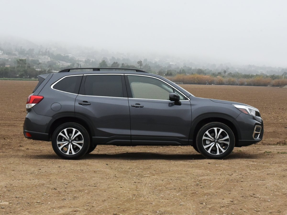 2021 Subaru Forester Limited Gray Side View