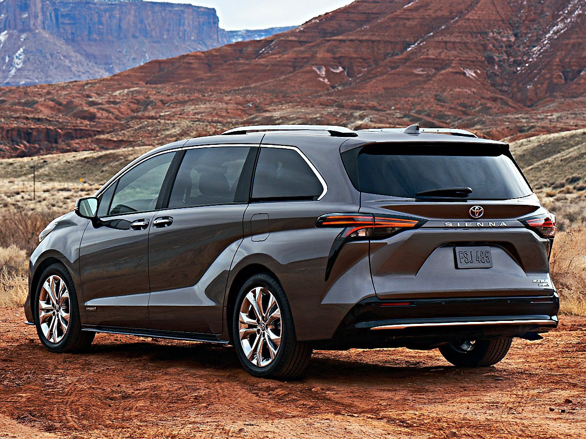 2021 Toyota Sienna Platinum Gray rear view