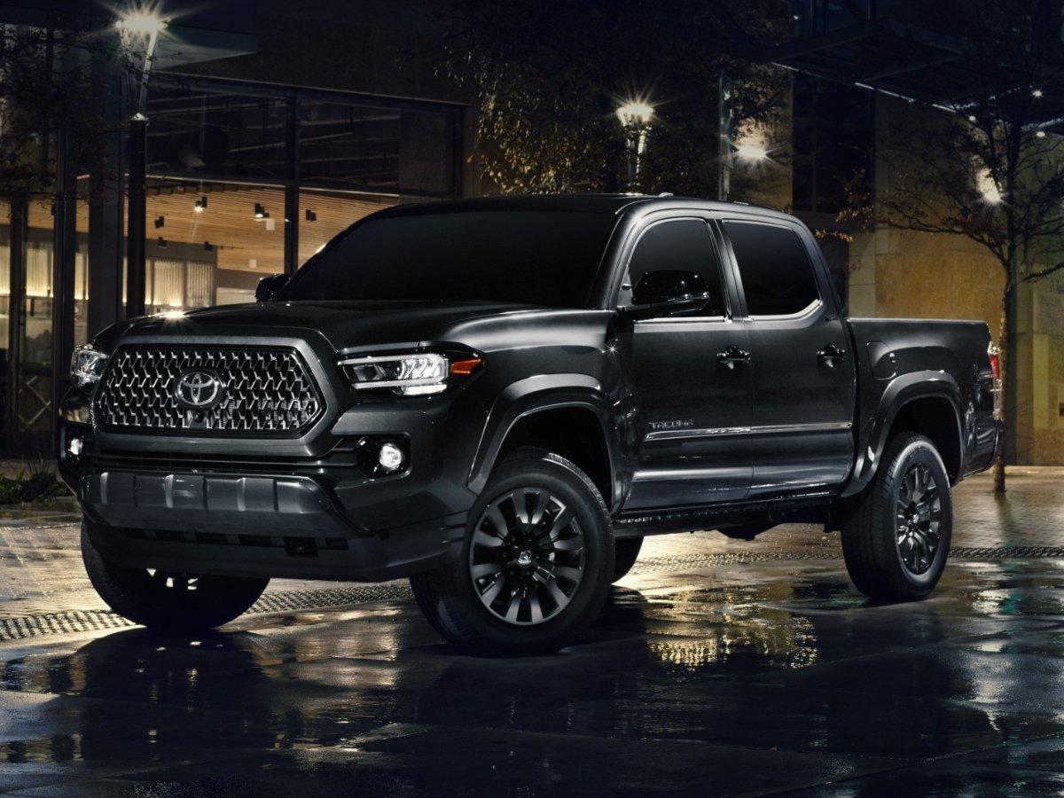 2021 Toyota Tacoma Nightshade Edition Black Front Quarter View