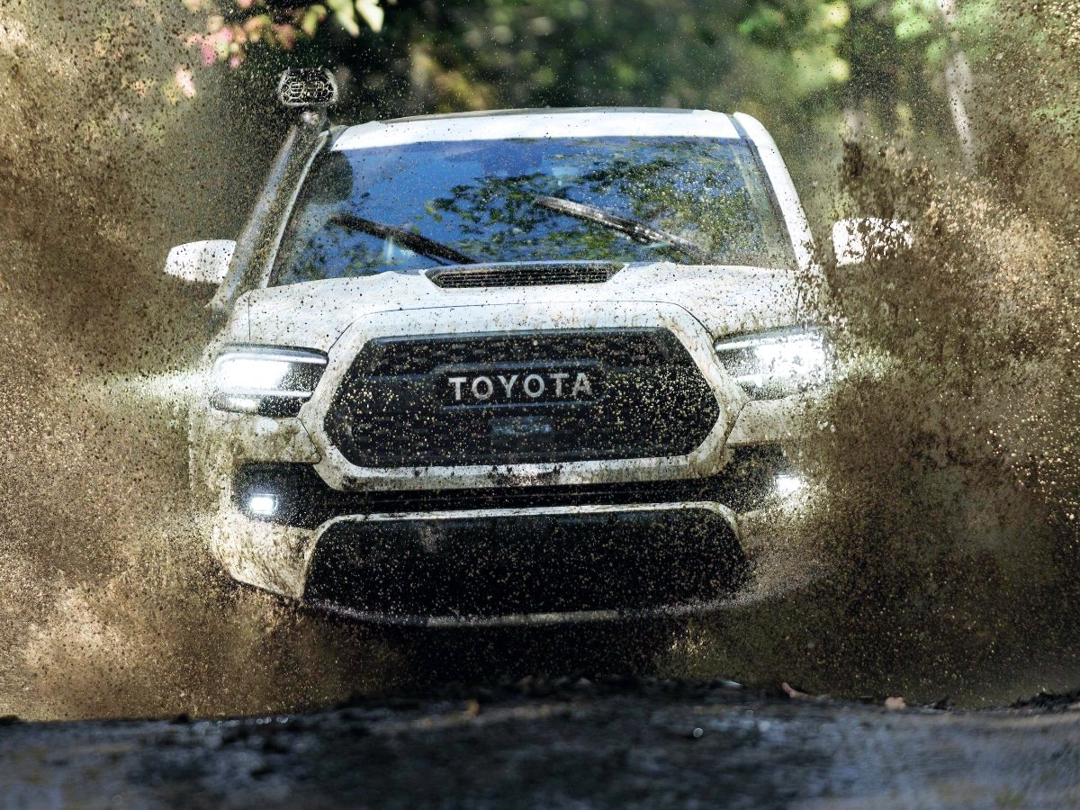 2021 Toyota Tacoma TRD Pro Driving Through Mud Water