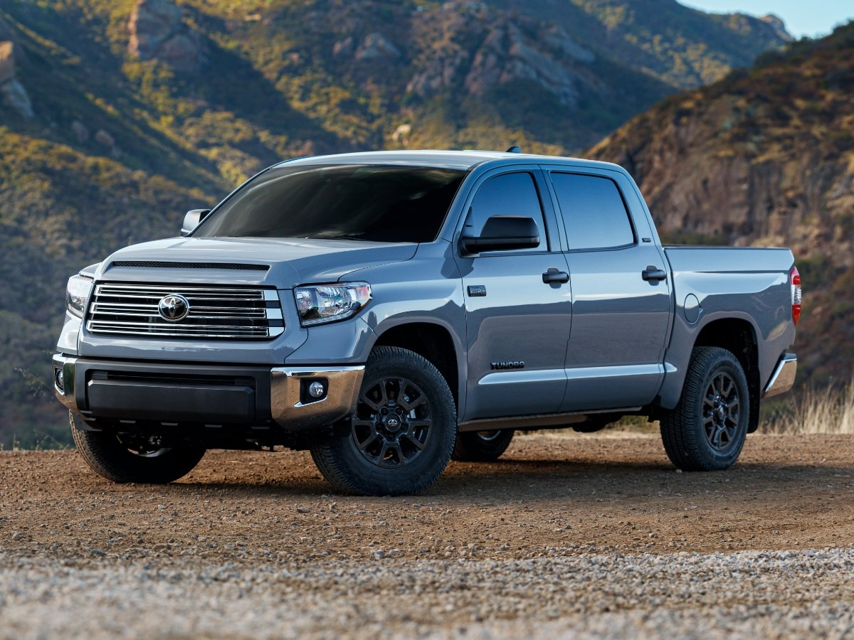 2021 Toyota Tundra Trail Edition Silver Front Quarter View