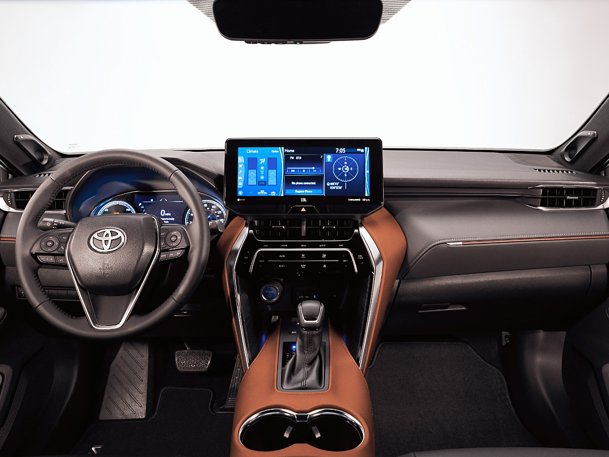 2021 Toyota Venza Limited dashboard interior view
