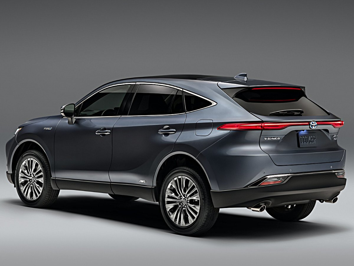 2021 Toyota Venza Limited rear view in gray