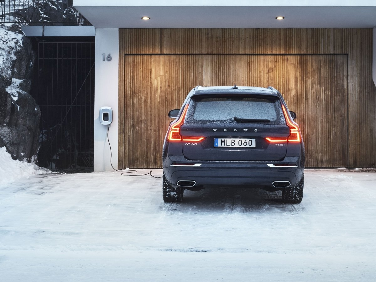 2021 Volvo XC60 Recharge Using Home Charging Station