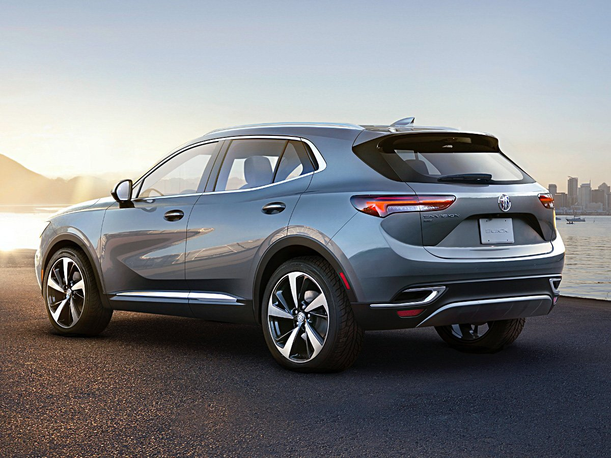 2021 Buick Envision Gray rear view