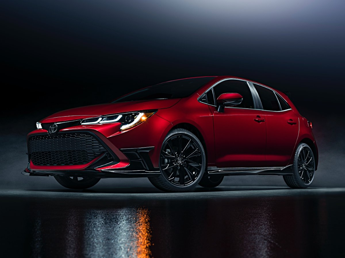2021 Toyota Corolla Hatchback exterior in red