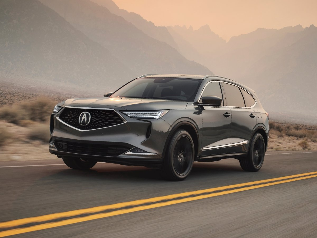2022 Acura MDX A-Spec Liquid Carbon Front Quarter View
