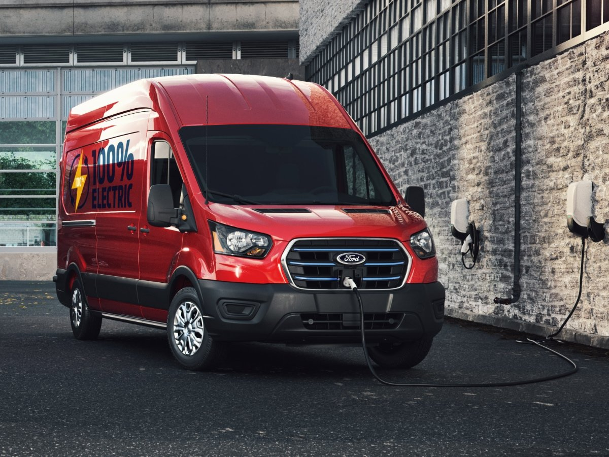 2022 Ford E-Transit Red Plugged In