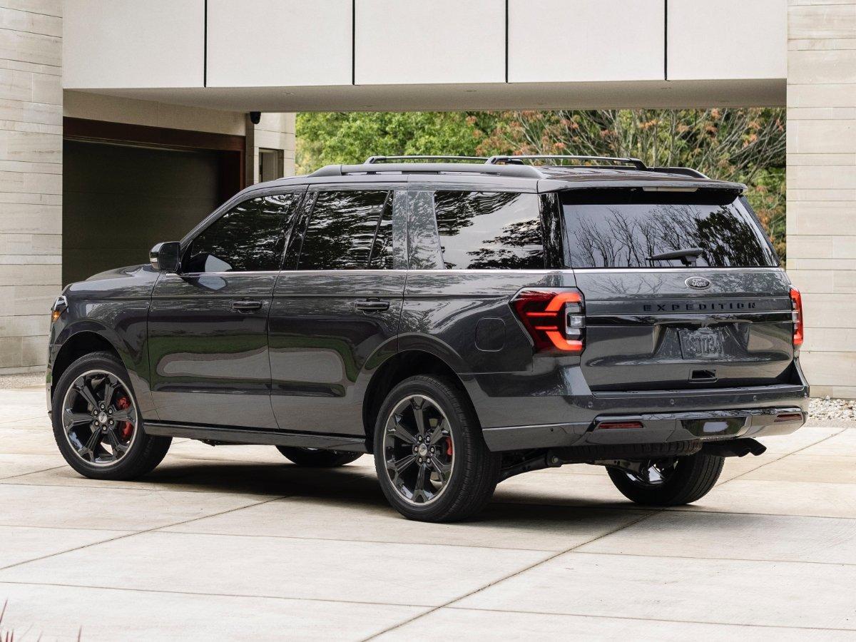 2022 Ford Expedition Gray Stealth Edition Rear Quarter View