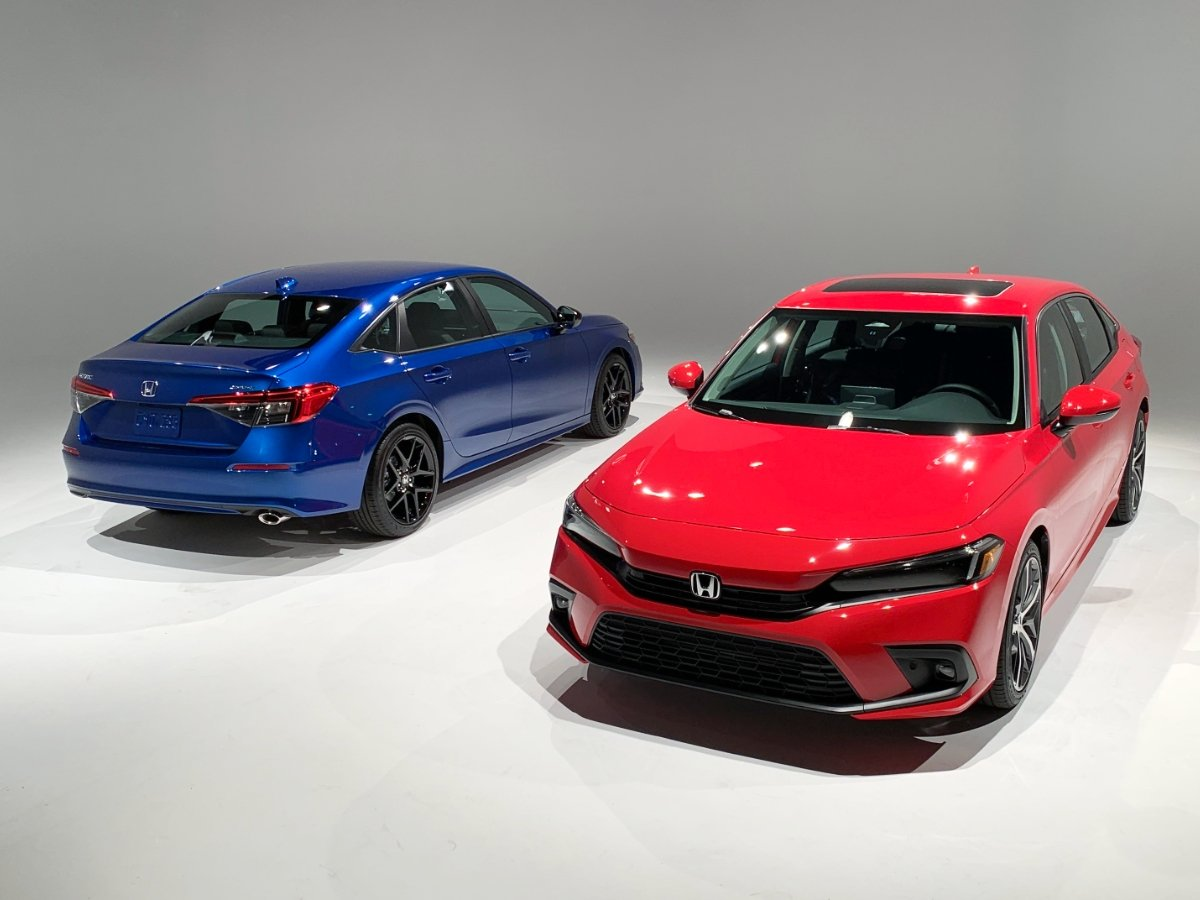 2022 Honda Civic Touring Red Sport Blue