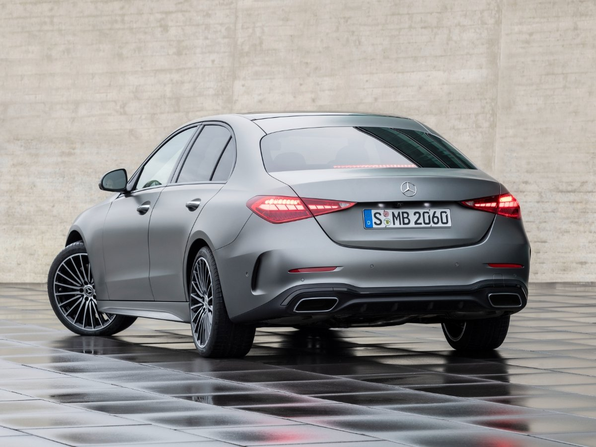 2022 Mercedes Benz C 300 AMG Line Gray Rear View