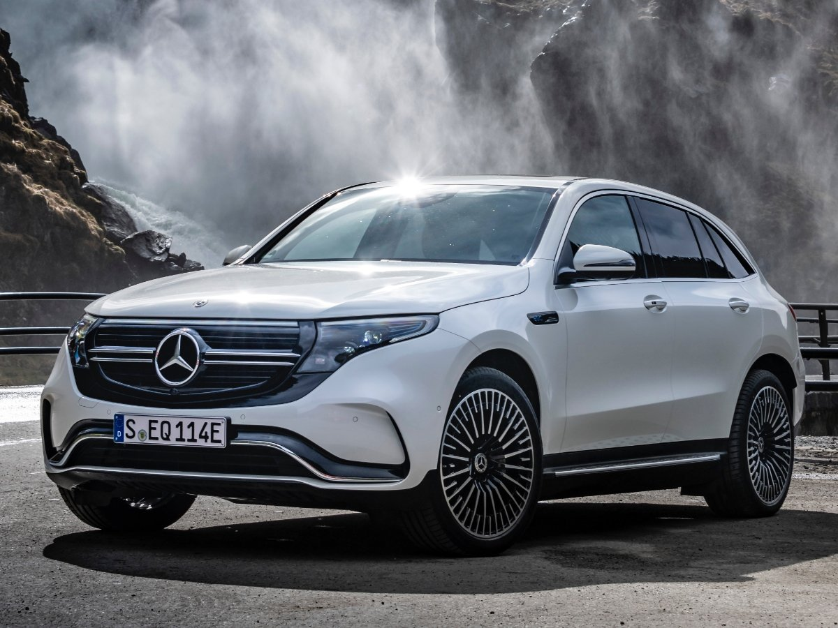 2022 Mercedes-Benz EQC White Front View