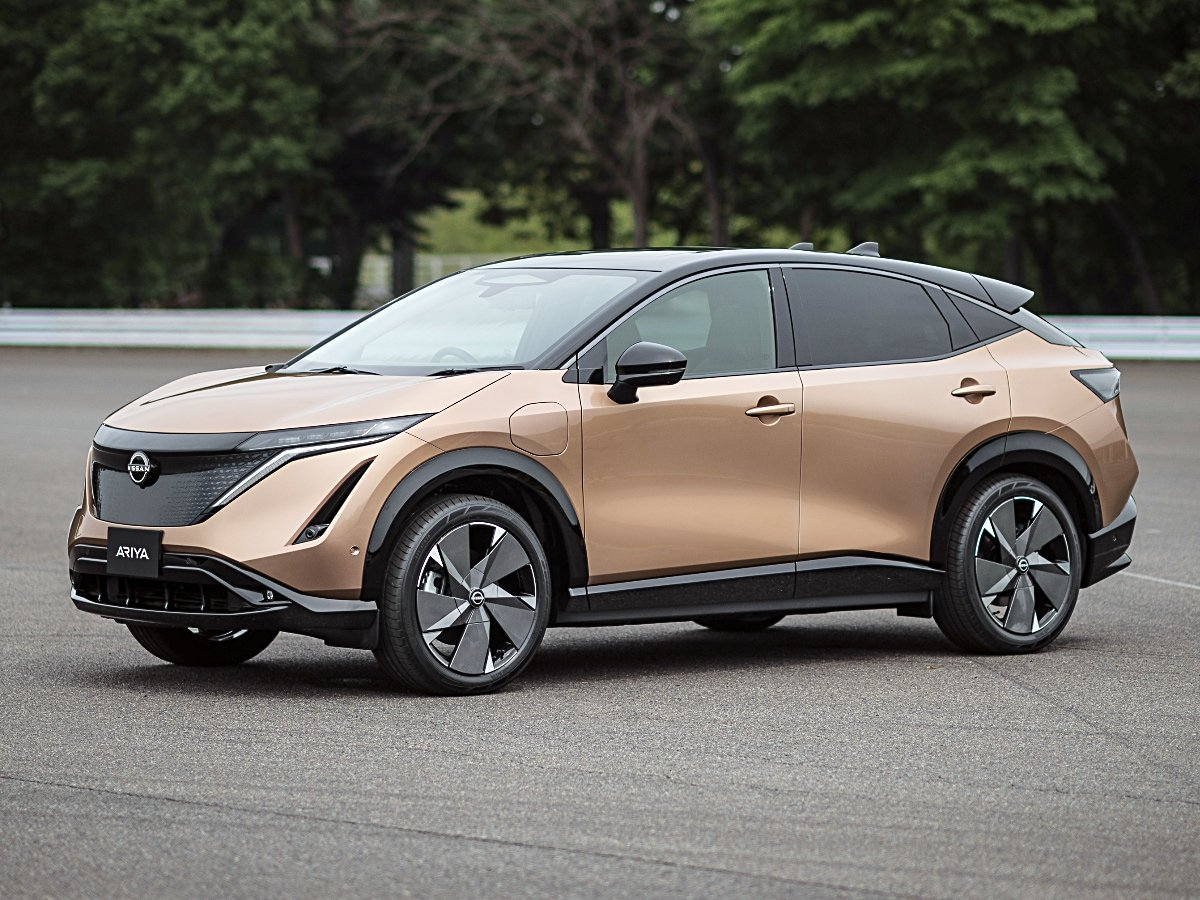 2022 Nissan Ariya Copper front and side view