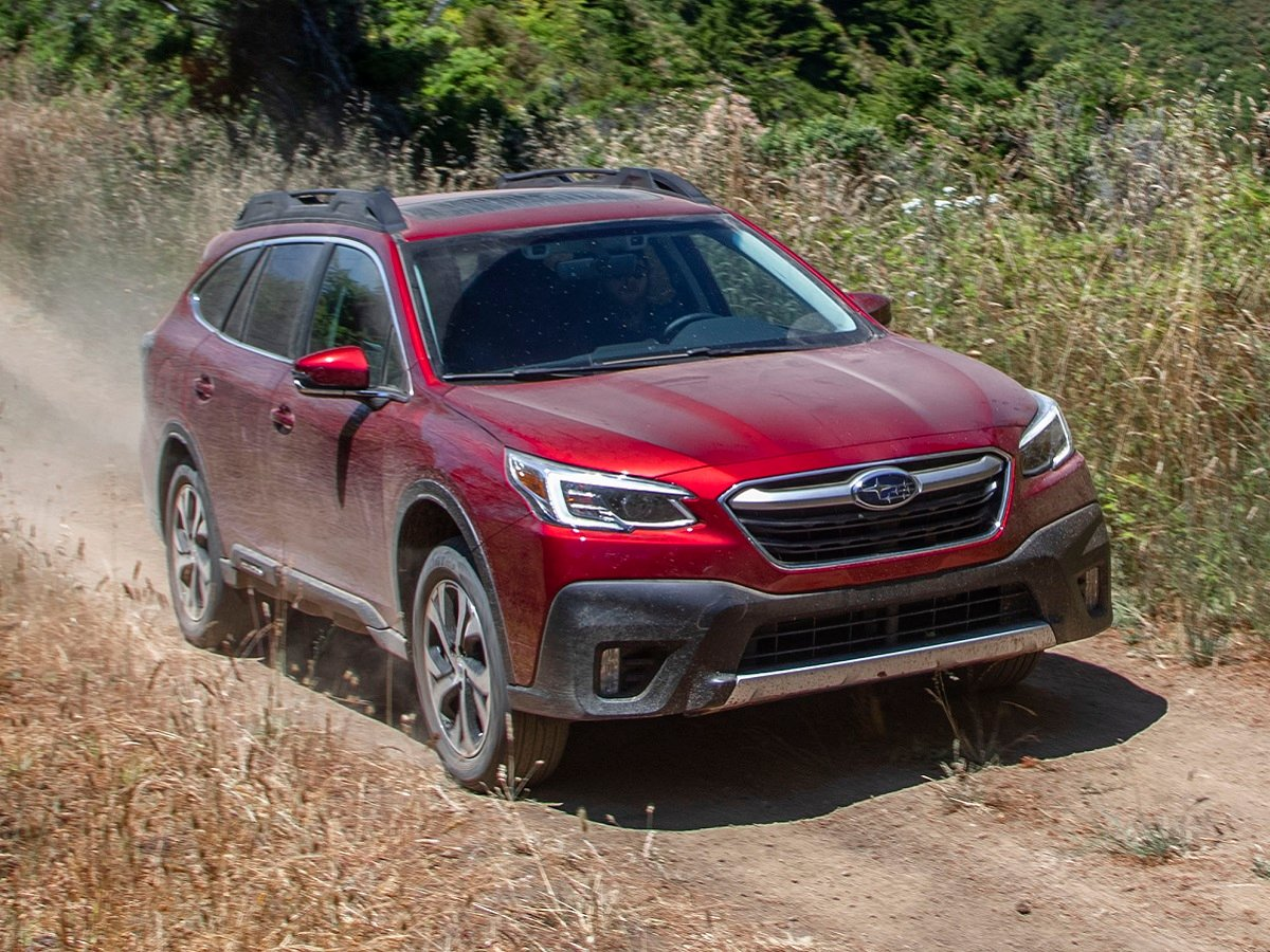 2022 Subaru Outback Limited Red Front Quarter View