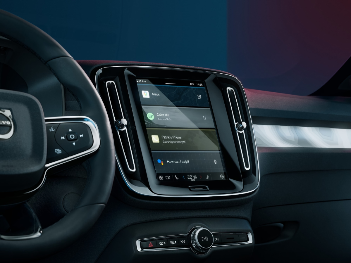 2022 Volvo C40 Recharge Google Android Infotainment System
