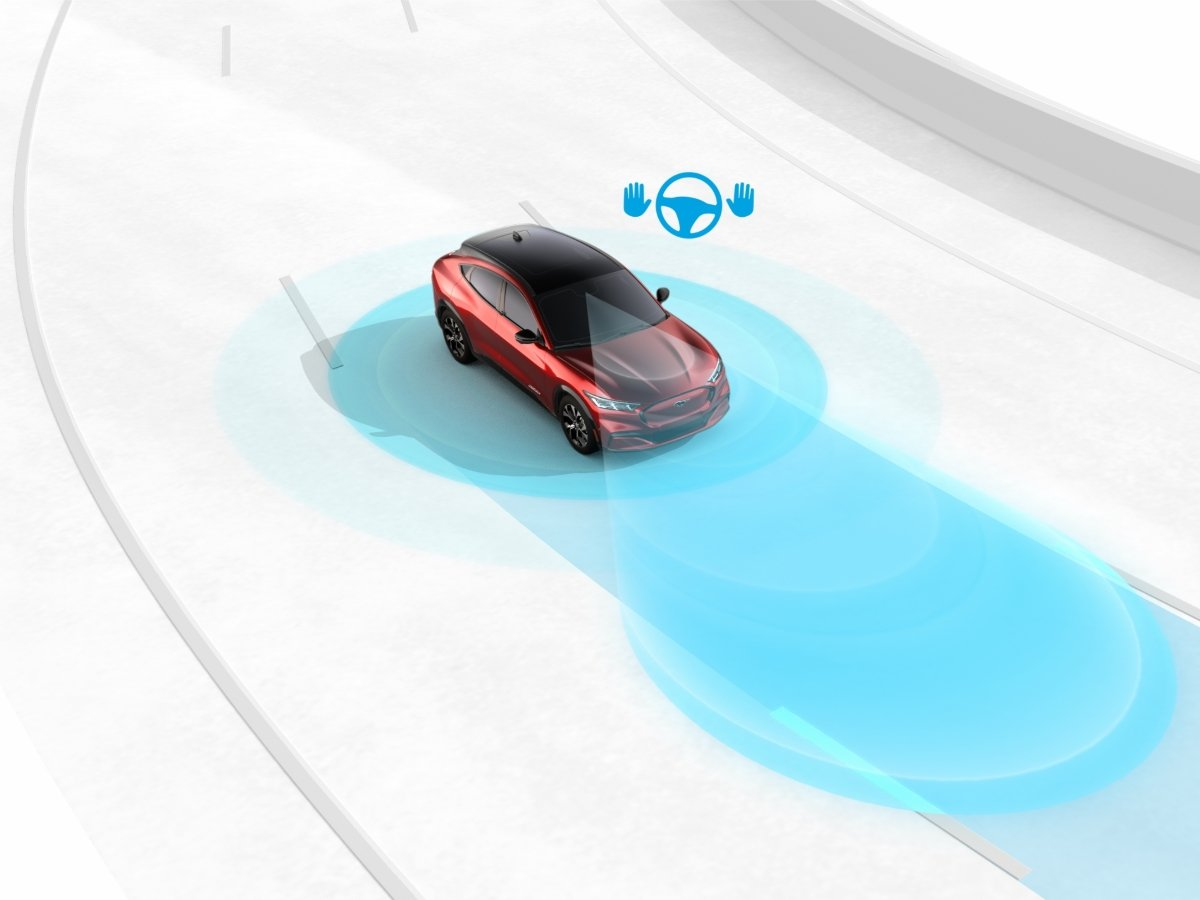 Ford BlueCruise Hands Free Driving Illustration