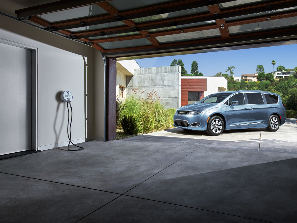 Garage Equipped with Home Charging Station