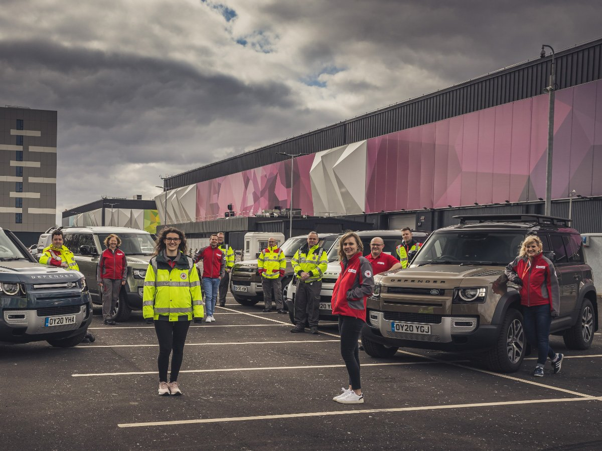 Jaguar and Land Rover send vehicles to support first responders