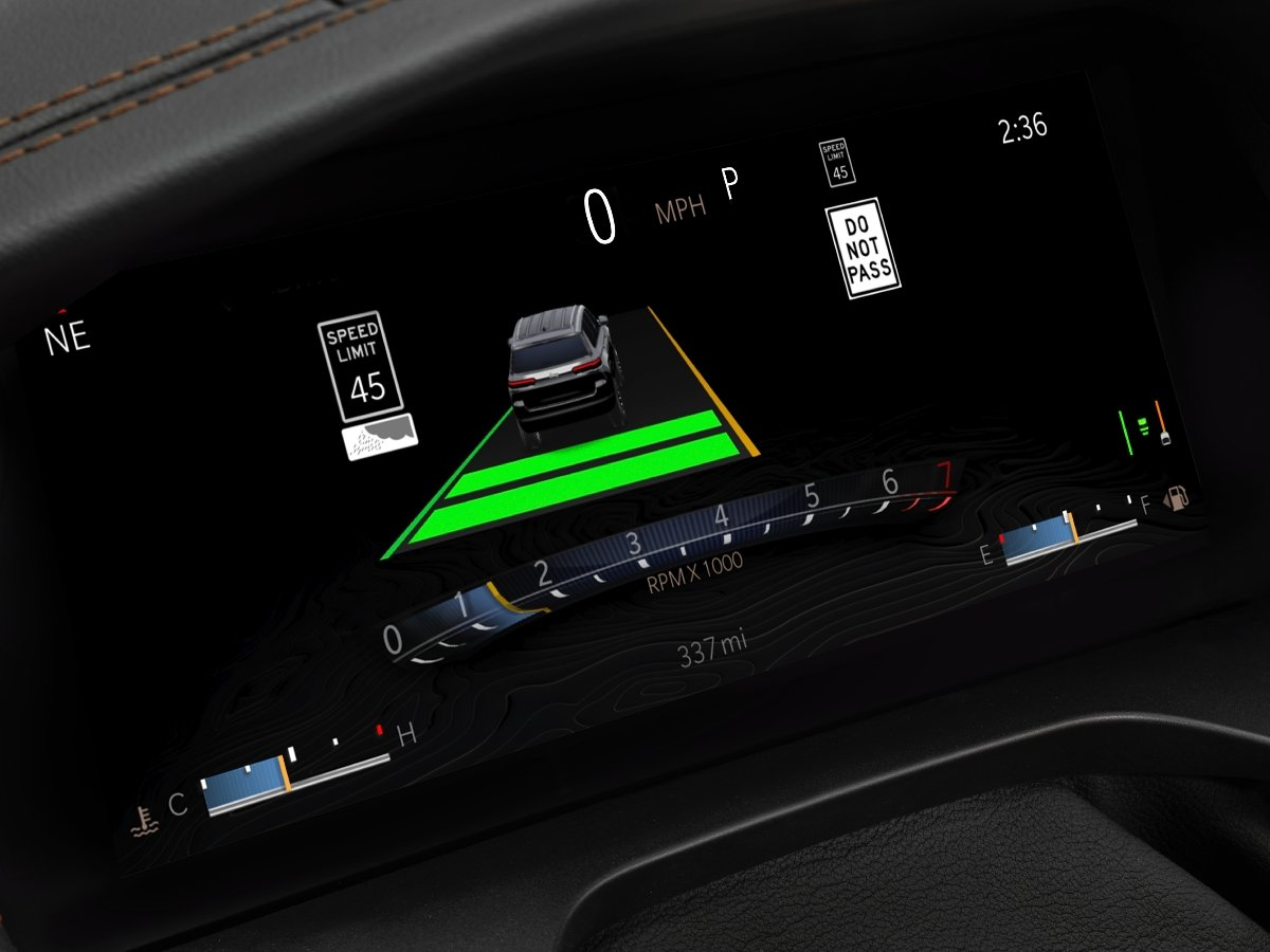 Jeep Active Driving Assist Display