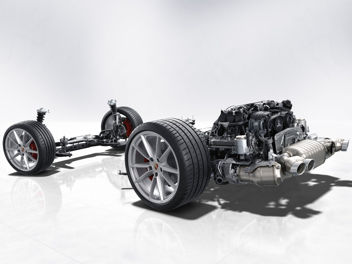 Porsche 911 Rolling Chassis Boxer Engine