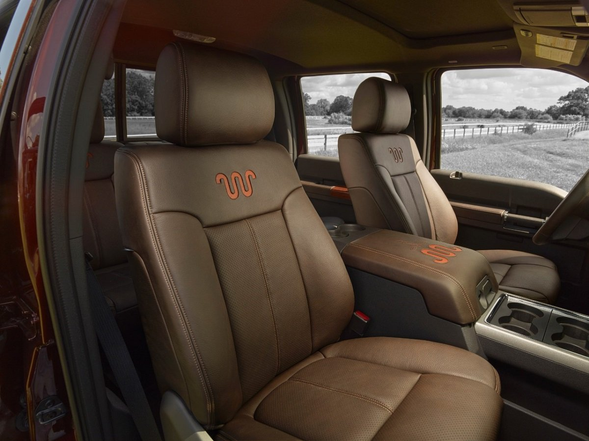 2015 Ford F Series Super Duty Preview Nadaguides 2014 450 Platinum Interior Features As Is The Case With Dutys