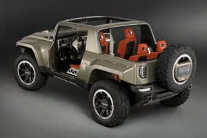 In Terms Of Size The Hx Concept With Its 81 Inch Width And 103 Wheelbase Is More Compact Than A Hummer H3